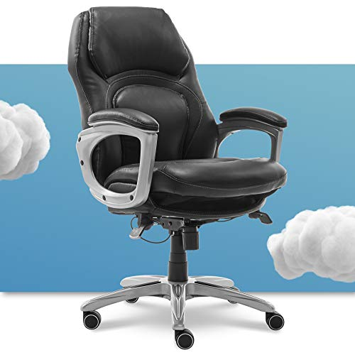 Serta Back in Motion Health and Wellness Executive Office Chair, Black