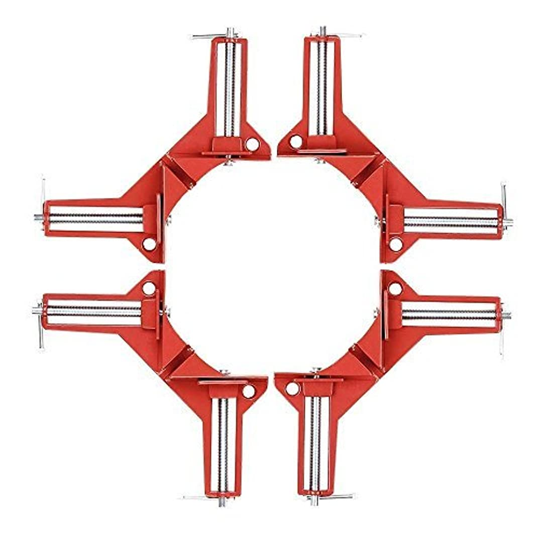 モーター罰クレジットZinc Alloy Right Angle Clamp 90 Degree Clamp Miter Picture Frame Clamp, Woodworking Kit Framing Vise Holder - 4pcs Corner Clamp [並行輸入品]