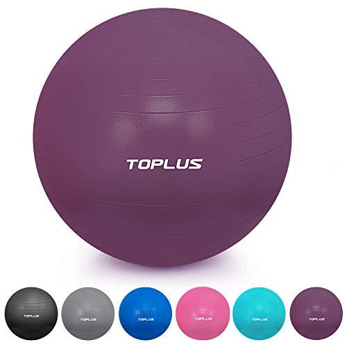 TOPLUS Gymnastikball Sitzball Extra Dicker Yoga-Ball-Stuhl, Anti-Berst-Stabilitätsball für hohe Beanspruchung, Balance Ball mit Schnellpumpe-Lila&65cm