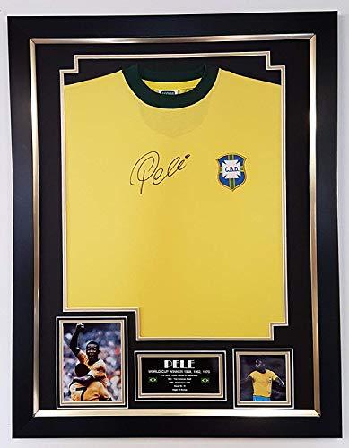 WWW.SIGNEDMEMORABILIASHOP.CO.UK Pele Trikot mit Autogramm Brasilien