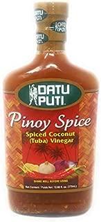 Datu Puti Pinoy Sauce Spiced Coconut (Tuba) Vinegar, Net Wt 12.68fl. oz (375mL)