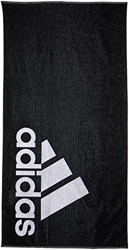 adidas Towel L, Telo Mare Unisex – Adulto, Black/White, NS