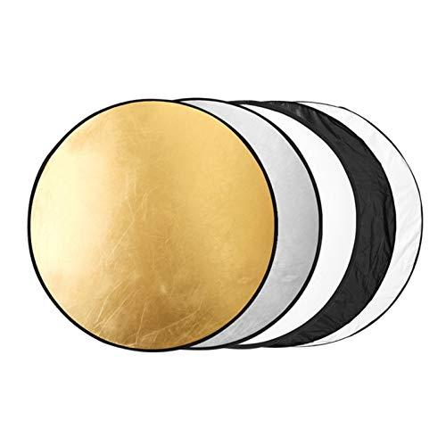 Fengshengli - Riflettore di luce 5 in 1, pieghevole, multi disco per illuminazione da studio fotografico e illuminazione esterna