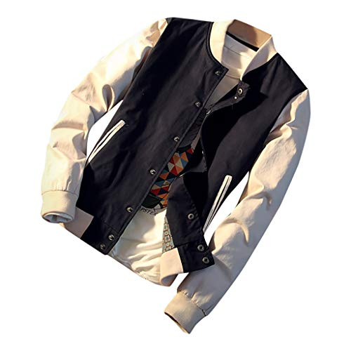Purchase Letdown_Men Hoodies Mens Baseball Winter Jacket Patchwork Stand Collar Slim Fit Comfort Lig...