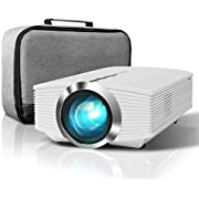 ELEPHAS 3200 Lux Mini Projector, Home Theater Video Projector 1080P HD with AV USB Micro SD Card HDMI for Movie Night Support Piece Laptop Smartphone,