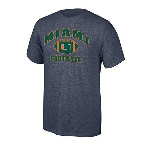 Elite Fan Shop NCAA Football T-Shirt Dark Heather, Herren, NCAA Football T-Shirt Dark Heather, Miami Hurricanes Dark Heather, Large