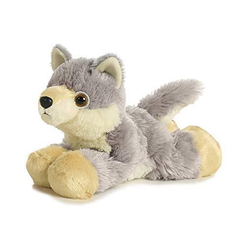 Aurora, 13296, Mini Flopsie Wolf, 20cm, Plüschtier, weiß/lila
