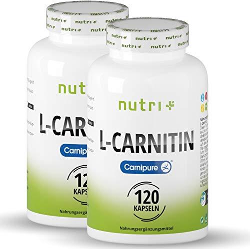 L-CARNITIN Carnipure ® - TESTSIEGER - 240 Kapseln - Laborgeprüft & beste Bioverfügbarkeit - Vegan L-Carnitine Caps aus der Schweiz - beliebt bei Diät & Definition - ohne Zucker