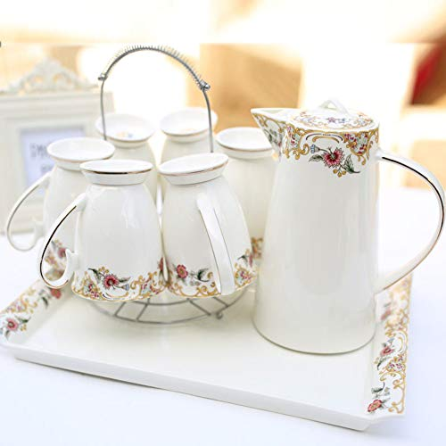 Learn More About JYXJJKK Household Ceramic Water Set,Living Room Kettle Cup Set-B