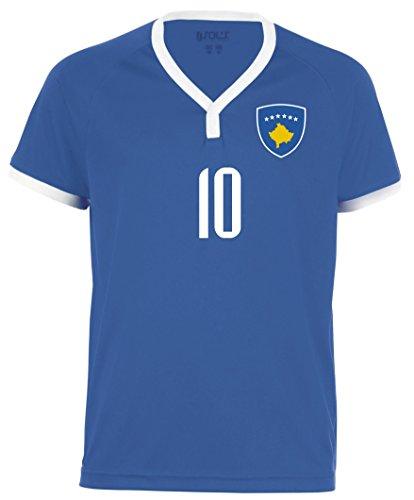 Aprom-Sports Kosovo Kinder Trikot - Hose Stutzen inkl. Druck Wunschname + Nr. BBB WM 2018 (140)