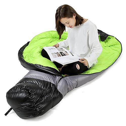 DLSM Printemps et Hiver en duvet sac de couchage adulte momie duvet sac de couchage randonnée plein air sac à dos et vacances camping agent, Vert