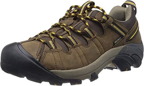 Keen Men's Targhee II WP Cascade Brown/Golden Yellow Hiking Boot - 10.5 2E US