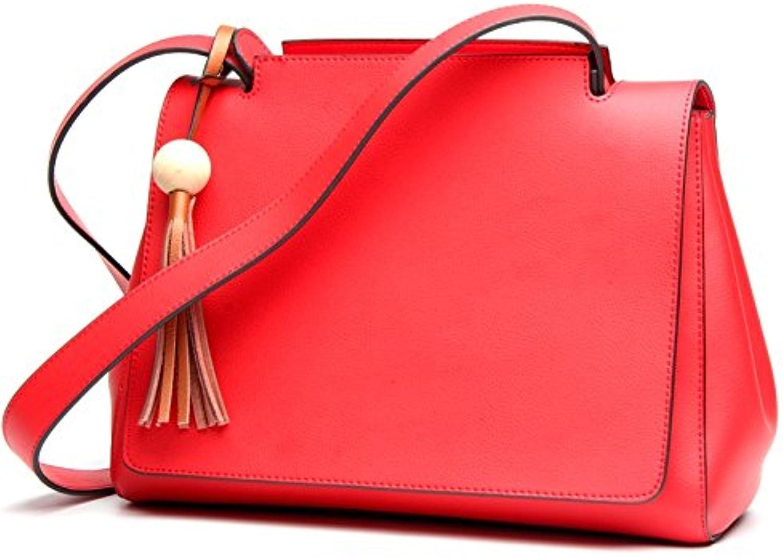 Damen Schultertasche Schultertasche Schultertasche Leder Große Kapazität Leder Schultertasche Lady Bag (Farbe   rot, Größe   M) B07KJ5L26N  Moderate Kosten d9a82f