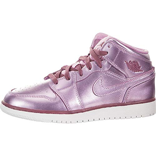 Nike Air Jordan 1 Mid Se (GS), Scarpe da Fitness Donna, Multicolore (Pink Rise/White/Noble Red 640), 40 EU