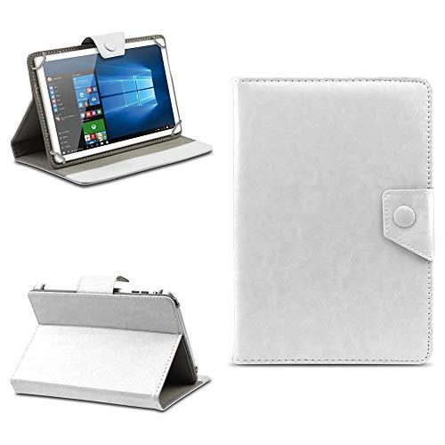NAmobile Tablet Tasche für Blaupunkt Atlantis A10.303 Hülle Schutzhülle Magnet Hülle Universal Schutz Cover 10.1 Zoll Etui, Farben:Weiss