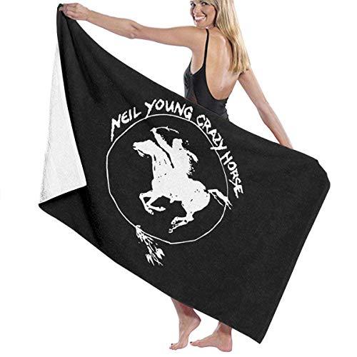 Ewtretr Toalla de Playa Crazy Horse Vintage Beach Towels