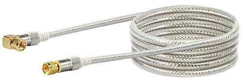 SCHWAIGER -9543- Satellitenkabel 5 m 110dB / 90° Winkel-Stecker/HDTV Antennen-Kabel/SAT-Kabel 75 Ohm/Koaxial-Kabel/TV-Kabel / 4-Fach geschirmt/robuste Vollmetallstecker/DVB-S, DVB-S2