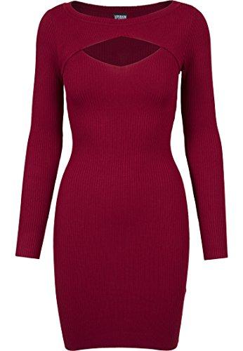 Urban Classics Ladies Cut Out Dress Vestido, Rojo (Burgundy 606), XS Para Mujer