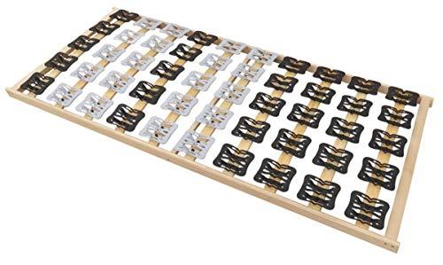 Coemo 5 Zonen Tellerlattenrost Lattenrost mit Federleisten und Teller-Elementen 90 x 200 cm