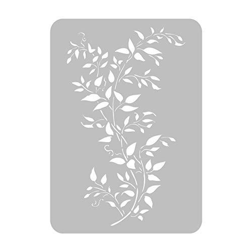 Wiederverwendbare Wandschablone aus Kunststoff // CLEMATIS-ANLAGE // Muster Schablone Vorlage (65x95cm)
