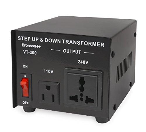 Bronson++ VT 300 - Convertitore 110 Volt - Trasformatore di voltaggio USA - Riduttore/Adattatore di tensione 300 Watt - Bronson 110V 300W