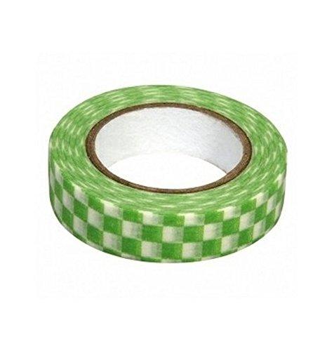Ray - Washi tape à carreaux vert et blanc
