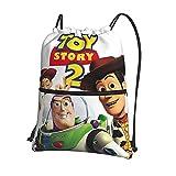 Toy Story - Bolsas de cordón unisex para gimnasio, mochila deportiva para escuela, playa y viajes