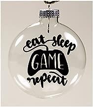 Jenuine Crafts Eat Sleep Video Game Repeat Gamer Christmas Ornament