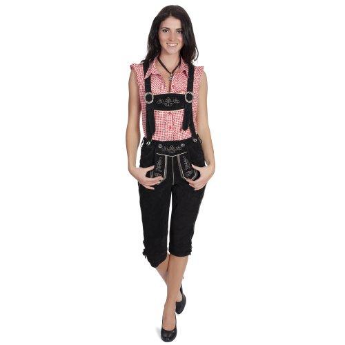 Gaudi-Leathers Damen GL2340 Trachten Lederhose, Schwarz (Schwarz 050), W31 (Herstellergröße: 34)