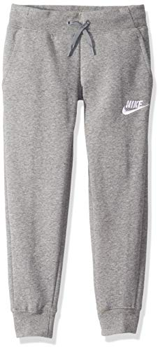 Nike Mädchen G NSW PE Pant Sport Trousers, Carbon Heather, 128-137