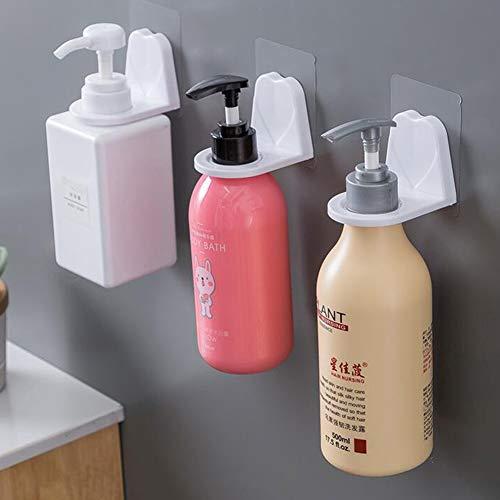 Shampoo houder haak, zelfklevende wandmontage voor flessen met pomp dispenser voor douche keuken badkamer
