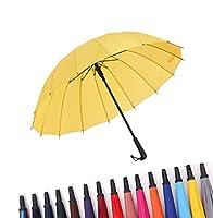 レインボー傘 長傘 虹傘 レディース メンズ ジャンプ傘 長傘 大きサイズ グラスファイバー傘 晴雨兼用 ワンタッチ ビジネス用 紳士傘 耐風 超撥水 遮光遮熱 日傘 梅雨対策 頑丈な 携帯便利 (イエロー)