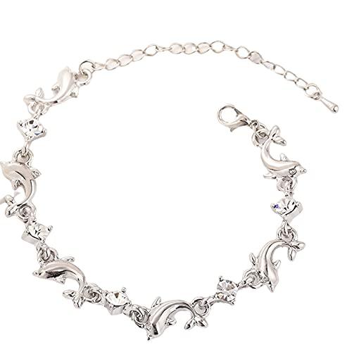 Zuoye Pulsera de delfín de moda personalizada brazalete de aleación de circonio encantador, accesorios elegantes para mujeres y niñas