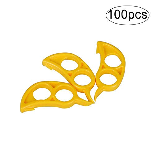 YZLSM 100Pcs Fruit Opener Tragbare Lemon Kunststoff Peeler Mini Stripping-Küche-Werkzeug orange