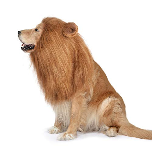 Dog Lion Mane,Funny Dog Costume,Adjustable Lion Mane for Dog Complementary Halloween Lion Costumes...