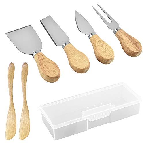 Herramientas de queso de 6 piezas, herramientas de queso de acero inoxidable...