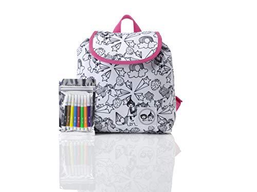 Colour and Wash Unicorn Kids Children Junior Backpack Rucksack Girl Boy