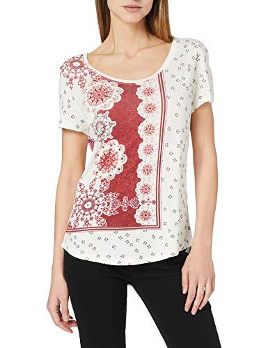 Desigual TS_Estambul Camiseta, Blanco, XL para Mujer