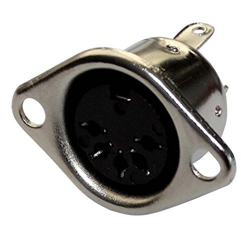 Aerzetix: 5 x Vrouwelijke 5-pins 5 pinnen 180 ° DIN Soldeer type Connectors, C19591