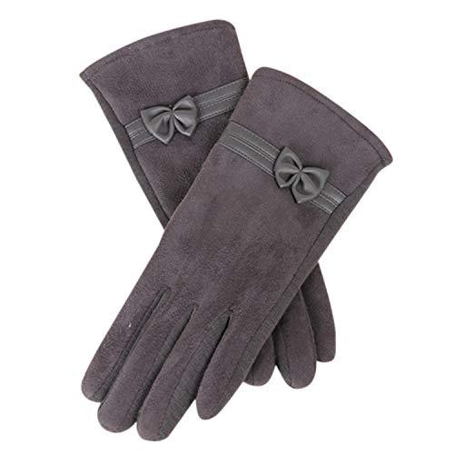 LiGHT-S Winterhandschuhe der Frauen 1 Paar UEDE netter Bogen voller Finger-Touch Creen Warm Fäustling Fahren Ki Reiten Winddichtes Psepo2, C