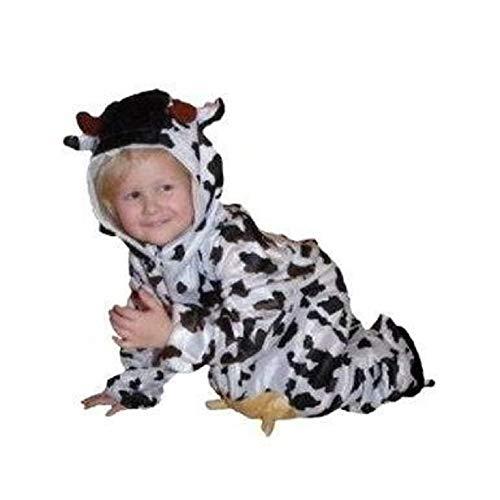 An32 Talla 92-98. Disfraz de Vaca Para Bebs y Nios, Cmodo de Llevar Encima de la Ropa