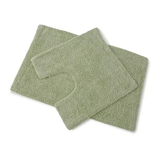 Premier - Juego de 2 alfombrillas de baño (100% algodón, antideslizantes, suaves, antideslizantes)