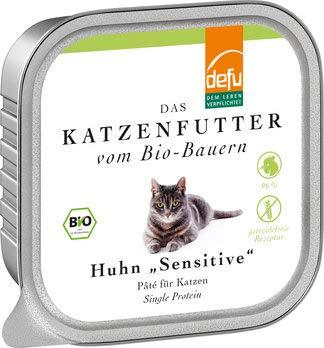 defu - Das Tierfutter vom Bio DEFU Katze Huhn Sensitive Pâté (2 x 100 gr)