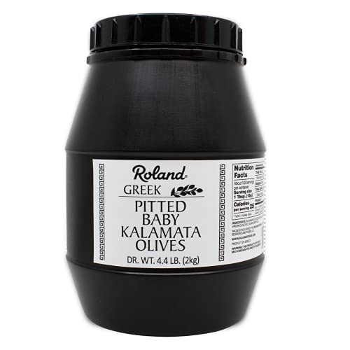 Roland Foods Pitted Baby Kalamata Olives from Greece, 4.4 Pound