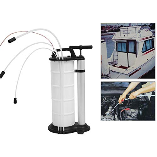 Bomba de aceite manual, extractor de fluido y aceite de vacío de 7L Bomba de succión Bomba de vacío Drenaje de aceite con sonda de succión y tubo de extensión para automóviles Motocicletas Motor