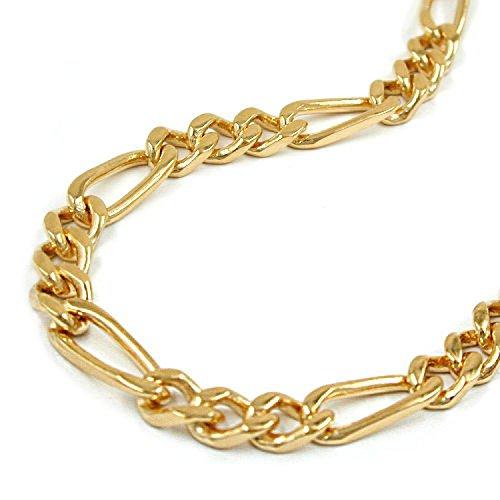 Latotsa Vergoldete Figarokette Figaro Kette Halskette Gelbgold Gold Plattiert Vergoldet Goldkette Schmuck 50cm