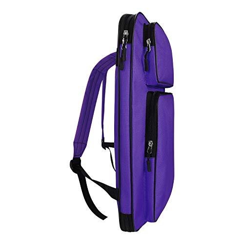 A3 Artist Portfolio Carry Shoulder Bag Case Adjustable Drawing Board Backpack Tote Bag Large Art Storage Bags for Artworkds Folding Easel Palette Sketch Paper Brushes Pencils