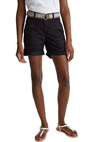 ESPRIT Damen 040EE1C343 Shorts, 001/BLACK, 38