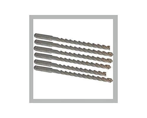 Set mit 6 Stück SDS+ Spit-Bohrer für Mauerwerk, Stein und Beton, 210 mm, 150 mm, 6 mm