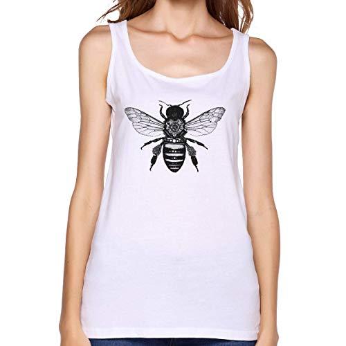 Henrnt Camisetas Sin Manga Mujer/Chaleco,Verano Camiseta Tirantes, Ladies Honey Bee Sleeveless Tank Top Sport Gym Vests Running T Shirt tee